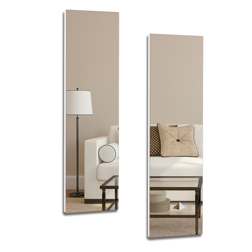 Full Length Wall Mount Frameless Mirror for Make up and Wall Decor(Set of 2)