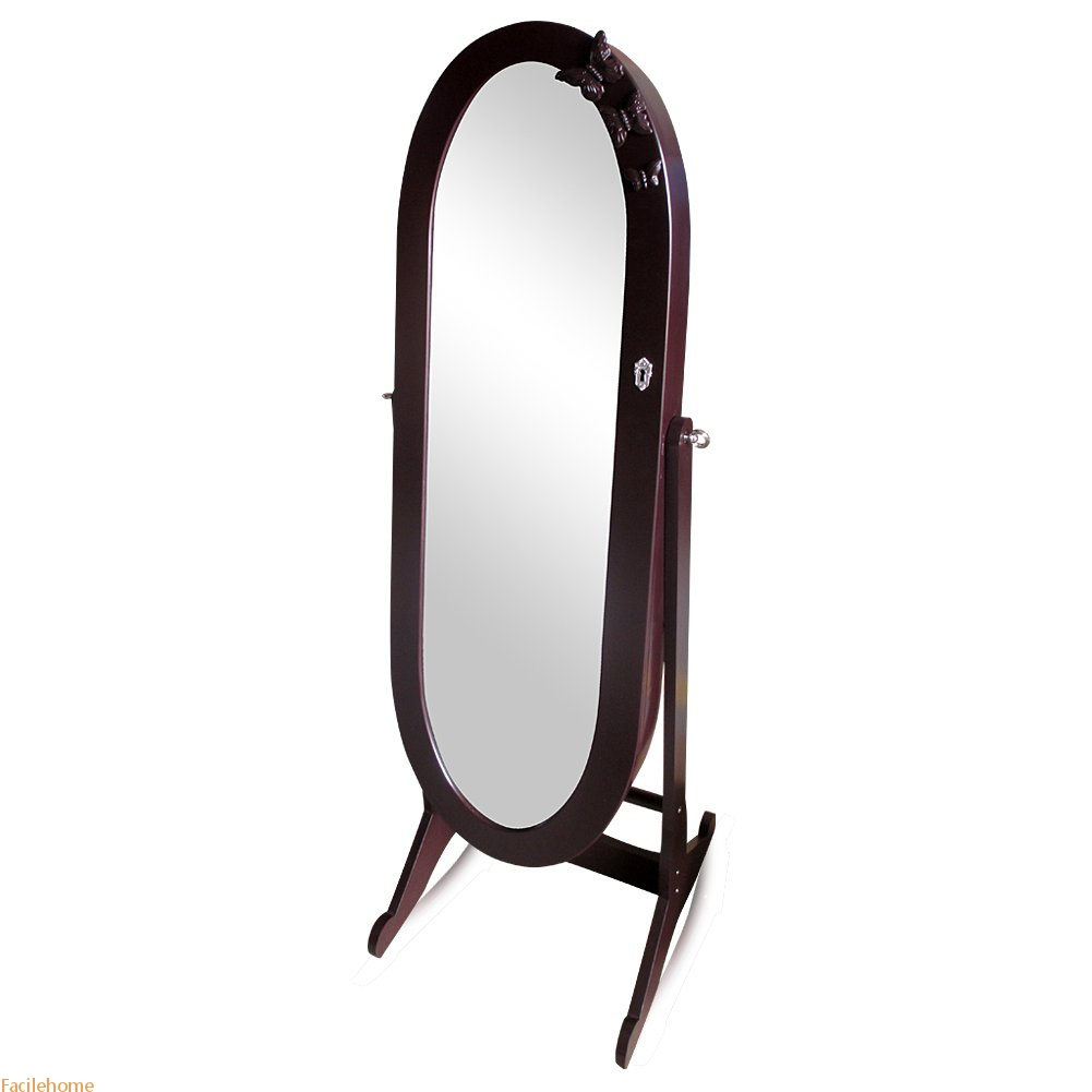 Full Length Mirror Jewelry Cabinet Floor Standing