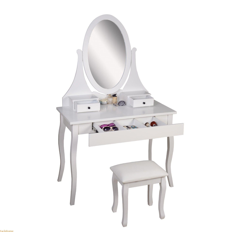 Makeup Vanity Desk Set with Bench