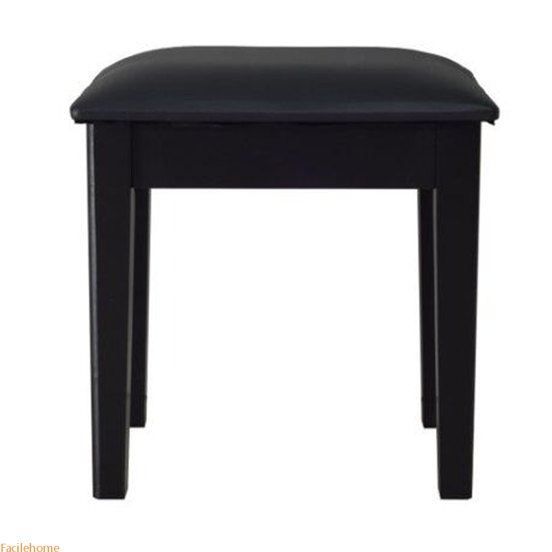 Vanity Stool Makeup Bench Dressing Stool with Cushion and Solid Legs