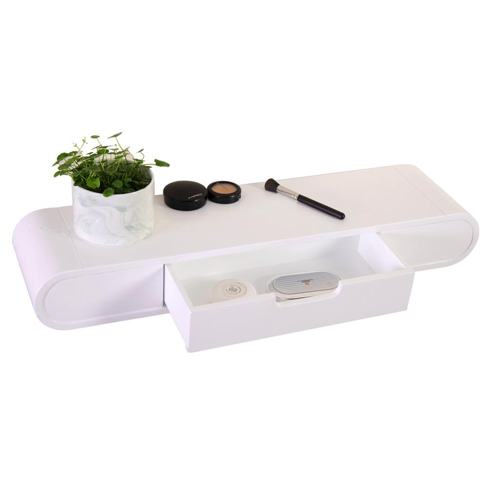 Floating Shelf Bedside Vanity Dressing Table with Storage Drawer