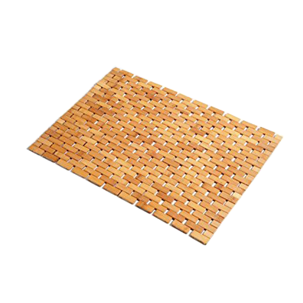 Non Slip Bamboo Bath Mat Anti Shower Safety Protection with Non Slip Gel