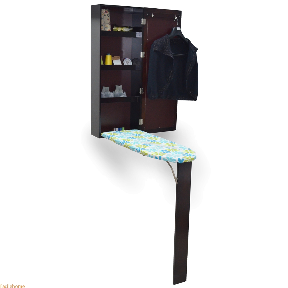 Brown Wall Mount Ironing Board